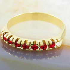Inel placate cu aur - Inel Placat cu Aur 18K cu Zirconiu, cod 852