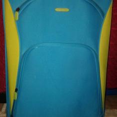Geanta voiaj - Geanta de voiaj Troller Benneton albastra capacitate mare light weight