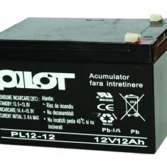 Sisteme de alarma - Acumulator PILOT 12V, 12Ah, PL 12