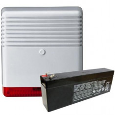 KIT SIRENA ALARMA EXTERIOR SI ACUMULATOR 12V/2.4AH SIR/PLL KIT - Sisteme de alarma