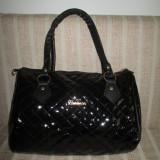 Geanta dama neagra piele eco lucioasa Fashion+CADOU
