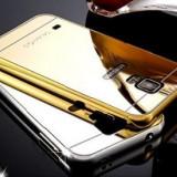 Husa/Carcasa Slim Samsung Galaxy S5 LUX GOLD Oglinda din Aluminiu, Acrylic, Auriu