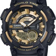 Ceas barbatesc Casio, Sport, Quartz, Cauciuc, Alarma, Electronic - Ceas Casio barbatesc cod AEQ-110BW-9AVDF - pret 329 lei (NOU; ORIGINAL)