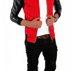 Geaca tip ZARA primavara rosie - vara - geaca slim fit - geaca fashion - 6293 - Geaca barbati, Marime: S, M, L, XL, Culoare: Din imagine