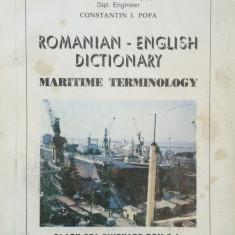 ROMANIAN-ENGLISH DICTIONARY MARITIME TERMINOLOGY -Constantin I. Popa
