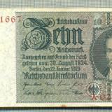 Bancnota Straine, Europa - A 139 BANCNOTA-GERMANIA- 10 MARK- anul 1929 -SERIA 02371667 -starea care se vede
