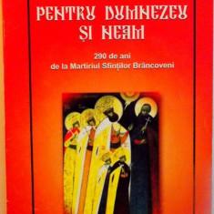 Carti Crestinism - PENTRU DUMNEZEU SI NEAM, 290 DE ANI DE LA MARTIRUL SFINTILOR BRANCOVENI de LAVINIU AURELIAN BADULESCU, 2004