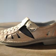 Sandale barbati - RIEKER PANTOFI TIP SANDALE DE PIELE MARIMEA 41
