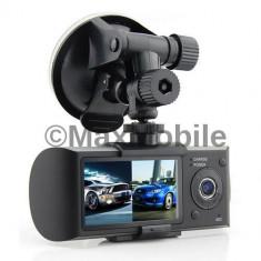 Camera video auto - Videocamera DUALA AUTO R300 cu LCD si GPS - MARTORUL DIN MASINA - Verif. colet