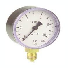 Centrala termica - Manometru cu tub Bourdon RF100 plastic D101 0-4bar
