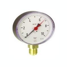 Centrala termica - Manometru cu tub Bourdon RF100 metalic D201 0-6bar