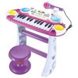 Instrumente muzicale copii - Orga pentru copii cu microfon si scaunel
