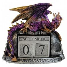 Calendar perpetuu de birou cu dragon - Nightwynd