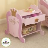 Noptiera din lemn roz, KidKraft