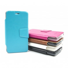 Husa telefon - Husa protectie Allview A5 Duo AIMI, tip carte, diverse culori (Culoare: Alb)