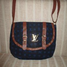 Geanta dama bleumarin cu maro Louis Vuitton+CADOU
