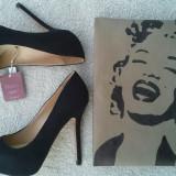 Pantofi Zara + poseta ( noi ) - Pantof dama Zara, Marime: 37, Culoare: Bej