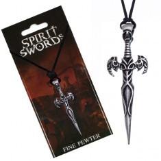 Colier din șnur, pandantiv, sabie cu ornamente