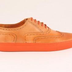 Candrani Oxford Sneakers Flotter Negru - Pantofi barbati