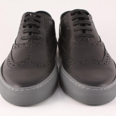 Candrani Oxford Sneakers Negru - Pantofi barbati