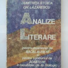 ANALIZE LITERARE PENTRU EXAMENUL DE BACALAUREAT SI PENTRU ADMITERE FACULTATE - Teste Bacalaureat