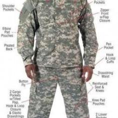 Tinută militara originala US Army - Camuflaj digital ACU - Marime L - Uniforma militara, Marime: 48, Culoare: Gri
