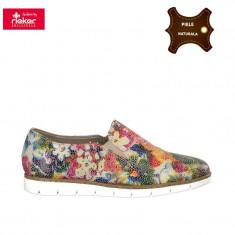 Pantofi dama piele naturala RIEKER multicolor (Marime: 40) - Pantof dama