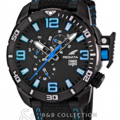 Ceas barbatesc fashion nautic Regata - brand Festina, Quartz, Otel, Material textil, Analog