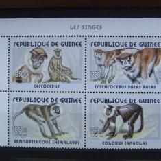 Guinea, maimute, serie nestampilata - Timbre straine