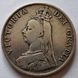 Double - Dublu Florin 1890 - Marea Britanie - Anglia - Argint 22, 2 grame, Europa