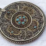 Medalion oriental Splendid de Efect executat manual in filigran Impunator