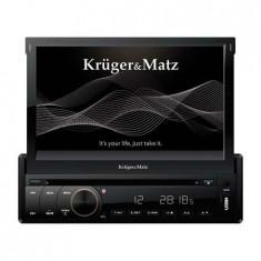DVD PLAYER AUTO KRUGER&MATZ; 1DIN 7 inch GPS DVBT DVD MP4 MP3 DIVX VCD JPEG USB SD - CD Player MP3 auto