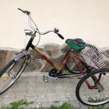 Vand bicicleta cu trei roti pentru adulti - Bicicleta de oras, 14 inch, 24 inch, Numar viteze: 1