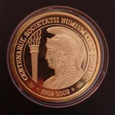 500 lei 2003 - Centenarul Soc. Numismatice - PROBA tombac - Moneda Romania