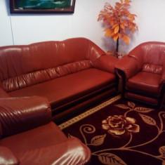 Canapea cu 2 fotolii - Set mobila living