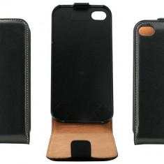 Husa Flip Cover OEM THAPPIPH4NEG neagra pentru Apple iPhone 4 / 4S - Husa Telefon