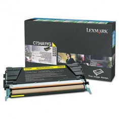 Consumabil Lexmark Consumabil toner pt X748 Yellow High Yield Return Program Toner Cartridge10000 pages