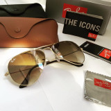 Ochelari de Soare RayBan RB 3025 Aviator Large Metal 001/51 Brown Gold !!!