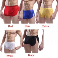 Lenjerie barbati fina boxeri bumbac, Marime: L, Culoare: Albastru