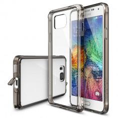 Husa Protectie Spate Ringke FUSION Smoke Black plus folie protectie pentru Samsung Galaxy Alpha - Husa Telefon