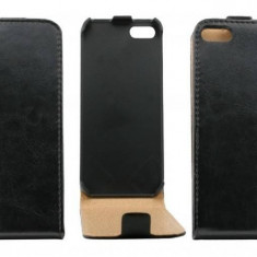 Husa Flip Cover OEM THAPPIPH5NEG neagra pentru Apple iPhone 5 / 5S - Husa Telefon Oem, iPhone 5/5S/SE