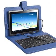 Husa cu tastatura Tracer microUSB Navy Blue 7 inch - Husa tableta cu tastatura
