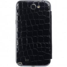 Flip cover Anymode Bamf000Kbk Me-In Mirror Croco negru pentru Samsung Note2 N7100 - Husa Telefon