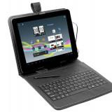 Husa cu tastatura Tracer microUSB neagra 7 inch - Husa tableta cu tastatura