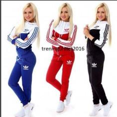 Trening adidas dama bumbac NEW YOUNG MODEL 2016 EXCEPTIONAL - Trening dama Adidas, Marime: M, L, XL, XXL, Culoare: Bleumarin, Negru, Rosu