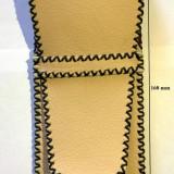 UNICAT - Etui pentru stilou, din piele crem (handmade, lucrat manual 100%)