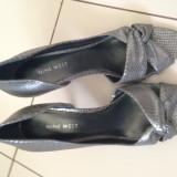Sandale - Sandale dama Nine West, Marime: 38, Culoare: Argintiu