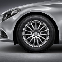 Jante Mercedes Originale 16, Anvelope Iarna BRIDGESTONE 205 60 16 - Janta aliaj Mercedes-benz, 6, 5, Numar prezoane: 5, PCD: 112