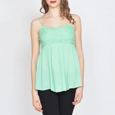 Top Dama. Model Green with Lace - Bluza dama Roberto Cavalli, Marime: 32, 36, 38, 40