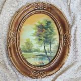 Deosebit Tablou peisaj - Pictat Ulei/placaj - Pictor roman, Peisaje, Altul